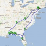 The official East Coast road trip route