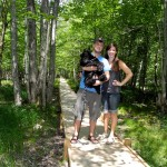 Us on the Jesup Path Acadia